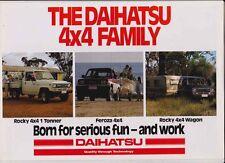 1989 DAIHATSU 4x4 Australian 6 Page Range Brochure ROCKY 1 TONNER WAGON FEROZA