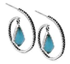 "Judith Jack Sterling Silver Mint Glass & Marcasite Drop Earrings ""GIFT BOX"" $98"