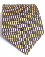 Nautica Classic Men s Neck Tie 100 % Silk Blue & Gold Geometric