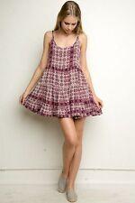 Brandy Melville maroon burgundy boho floral Jada Dress S SMALL USED