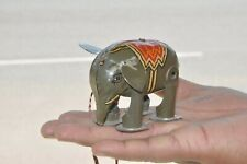 Vintage Wind Up Fine Litho Elephant Tin Toy , Japan