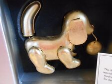 New in Box ~ TOZAI GOLD LEAF TIN METAL WIND UP TOY ~ PUPPY DOG ~ see my other's