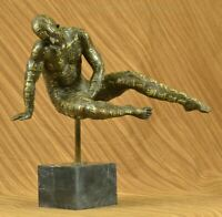 Bronze Sculpture Statue ABSTRACT ART DALI SOLID MARBLE BASE MODERN FIGURE DECO