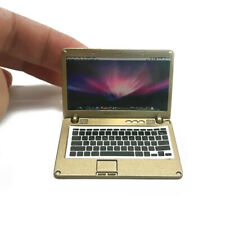 Dollhouse 1:6 Scale Laptop NoteBook Computer Model Miniature Accessory Gold