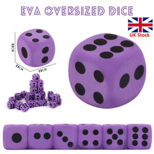 Supplies Foam Dice EVA Purple Specialty Large Party Game Children Kids .