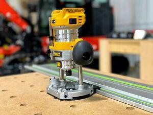 Dewalt Plunge Router Adapter for Festool Track Saw Guide Rails - DCW600B, DWP611