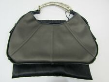 c3de32f297c YSL Yves Saint Laurent Mombasa Bronze Satin Shoulder Bag Hardware Horn  Leather