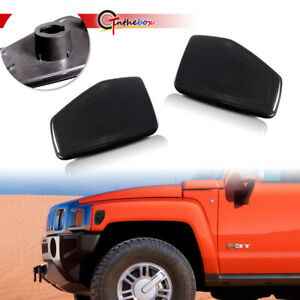 For 2006-2010 HUMMER H3, H3T Smoked Front Side Marker Light Housings Covers Set