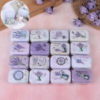 Lavanda Mini Caja de Lata Caja Sellado Embalaje Joyería Dulces de Almacenamie*ws