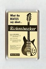 Vintage Music Advert Fridge Magnet - Rickenbacker Guitars, Beatles