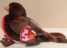 Beanie Baby Ty Early Robin Bird Error Tags Mint Condition
