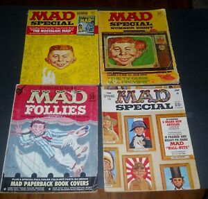MAD MAGAZINES! LOT OF 4 SPECIALS WITH INSERTS!