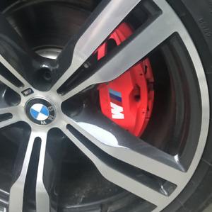 for BMW M Series Brake Caliper HIGT TEMPERATURE Decal Sticker Set of 6