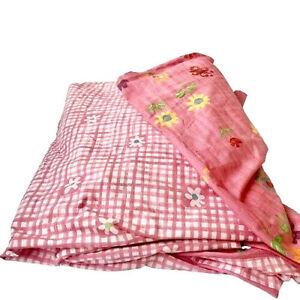 DESIGNERS GUILD Italy Reversible Coverlet Blanket Bedspread Pink Twin 67 x 82