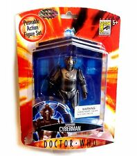 """DOCTOR WHO COMIC CON 2007 Exclusive Battle Damaged CYBERMAN 5"""" figure toy"""
