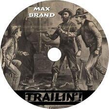 Trailin'!, Max Brand Western Audiobook English Fiction on 6 Audio CDs Free Ship