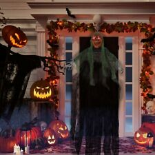 """45"""" Ghost Halloween  Pumpkin Reaper Ghost Decorations Yard With LED Glowing Eyes"""