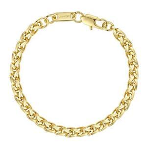 Zopfarmband Armband 24 Karat Gold vergoldet gelbgold Damen Herren B6048DL