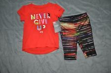Under Armour Infant Girls Never Give Up T-Shirt/Capri Set Size 12Months NWT