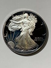 1993 American Silver Eagle Proof** 1oz SILVER** Violet Toning
