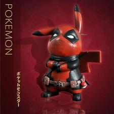 New Pokemon Pikachu Cosplay Deadpool Captain America Darth Vader Toy Figure Doll