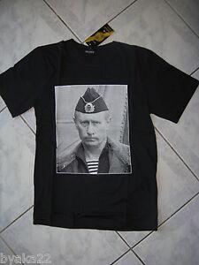 T-shirt russe président de RUSSIE Vladimir Poutine T.S noir   N 127