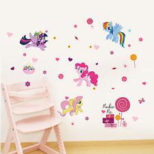 My little Pony Pinky Pie Rainbow Dash Wall sticker Decals Kids Girls Decor Mural
