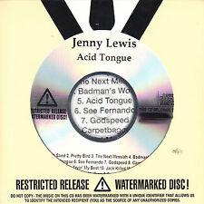 JENNY LEWIS Acid Tongue UK 11-trk numbered/watermarked promo test CD sealed