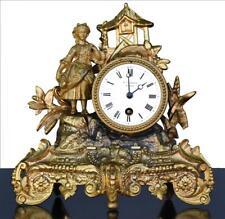 Pendule en régule époque XIXème mouvement fait à la Ciotat (13)