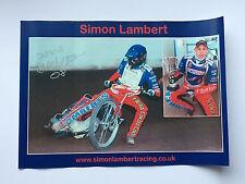 More details for simon lambert hand signed speedway poster rare.