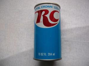 Rare 10oz RC - Royal Crown Cola Empty Vintage Steel Can - Toronto, Canada
