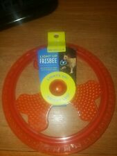 Light Up Frisbee Extended Play Time Into Night Time RED **NEW**