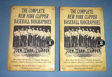 *  COMPLETE NEW YORK CLIPPER BASEBALL BIOGRAPHIES  *  2 vol. set  -  nice copies