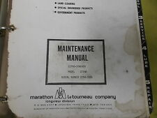 Marathon LeTourneau L2794A Letro Stacker Shop Service Repair Manual