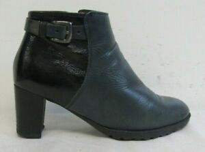 ARA WOMENS ANKLE BOOTS SIZE UK 6 EU 39 GREEN & BLUE LEATHER