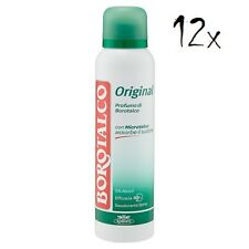 12x BOROTALCO ROBERTS deo spray deodorant Original Fresh 150 ml ohne Alkohol