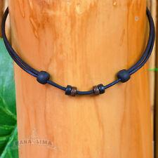 Lederkette Lederband schwarz verstellbar für eigenen Anhänger Halskette Halsband