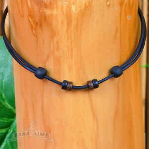 Leather Necklace Leather Strap Black Adjustable For Own Pendant Necklace