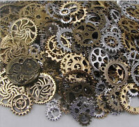 50g Watch Parts STEAMPUNK CYBERPUNNK COGS GEARS DIY JEWELRY CRAFT ART HOT