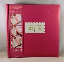 "Hallmark Girls Book of Big Firsts Memory Scrapbook Album Kit 9"" x 9"" NEW"