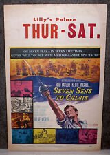 SEVEN SEAS TO CALAIS orig1962 movie poster ROD TAYLOR/KEITH MICHELL/TERENCE HILL