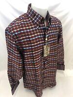 Mens MANZINI Button Down Dress Shirt MULTI COLOR PAISLEY FRENCH CUFF LARGE 55