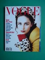 Vogue Paris Aout 1991 August Cover Emmanuelle Béart Nora Koito Kimball Issermann