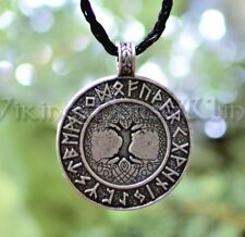 Wikinger Yggdrasil Runen Anhänger Weltenbaum Kette Silber Lebensbaum Mittelalter