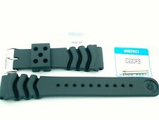 SEIKO GENUINE FACTORY 22MM BLACK DIVER STRAP - PT# 4D41JZ - SKX171 - NEW