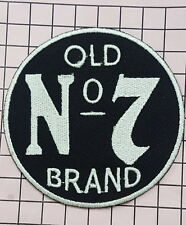 #427 JACK DANIEL'S OLD No 7 PATCH LARGE CIRCLE embroidered iron on sew on patch