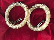 Vintage Drapery Rings Solid Brass Set of 2