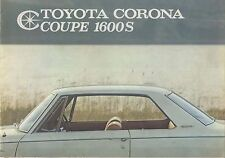Toyota Corona 1600S Coupe 1966-67 Original UK Sales Brochure