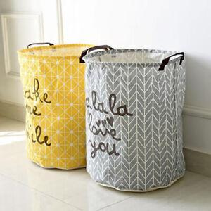 Large Laundry Wash Cloth Basket Storage Bag Bin Kids Room Toys Oragnizer Fabric