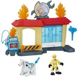Playskool Heroes Transformers Rock Garage Rescue Bots Fireman Fireplug Griffin